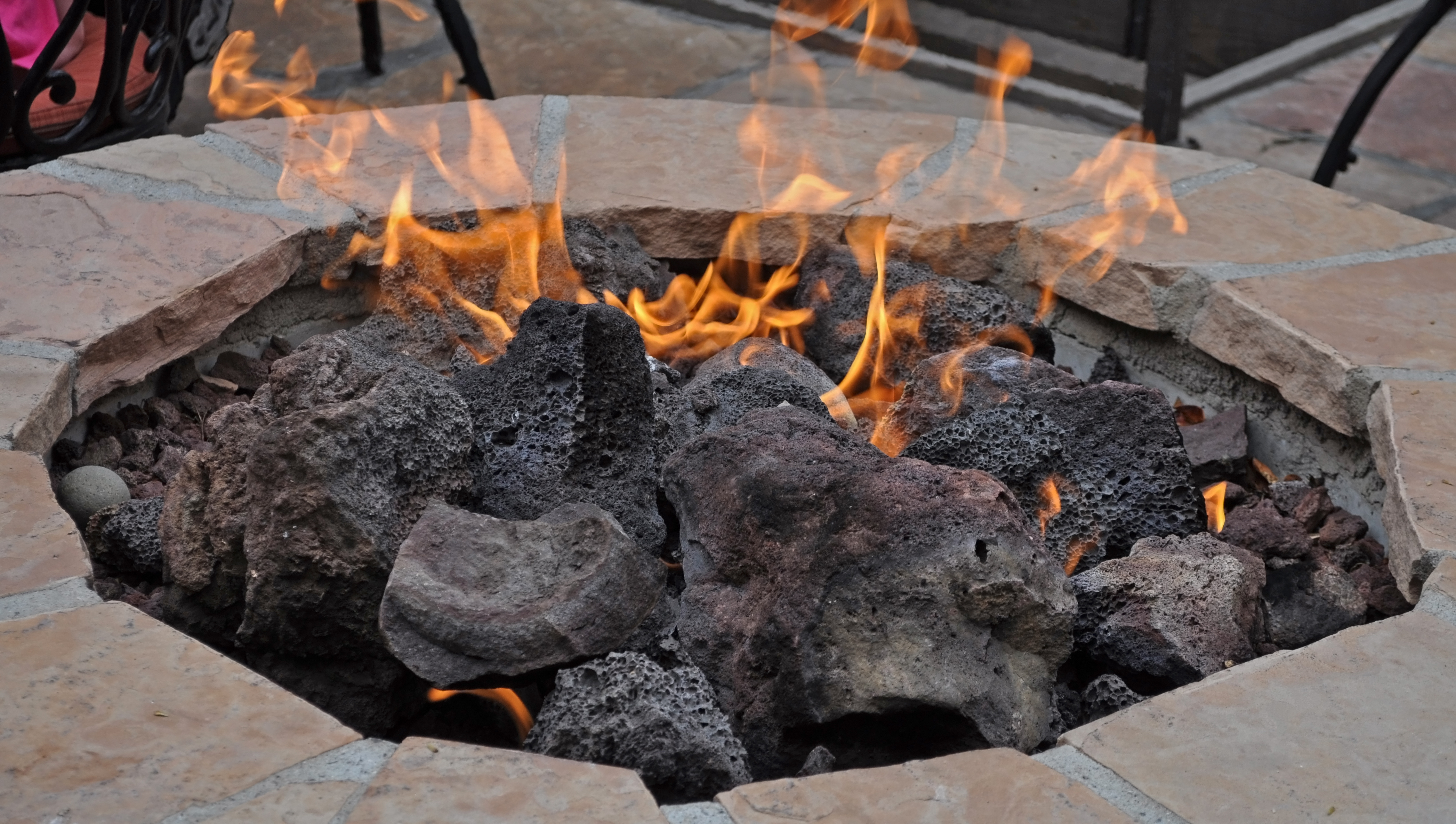 firepit in winter