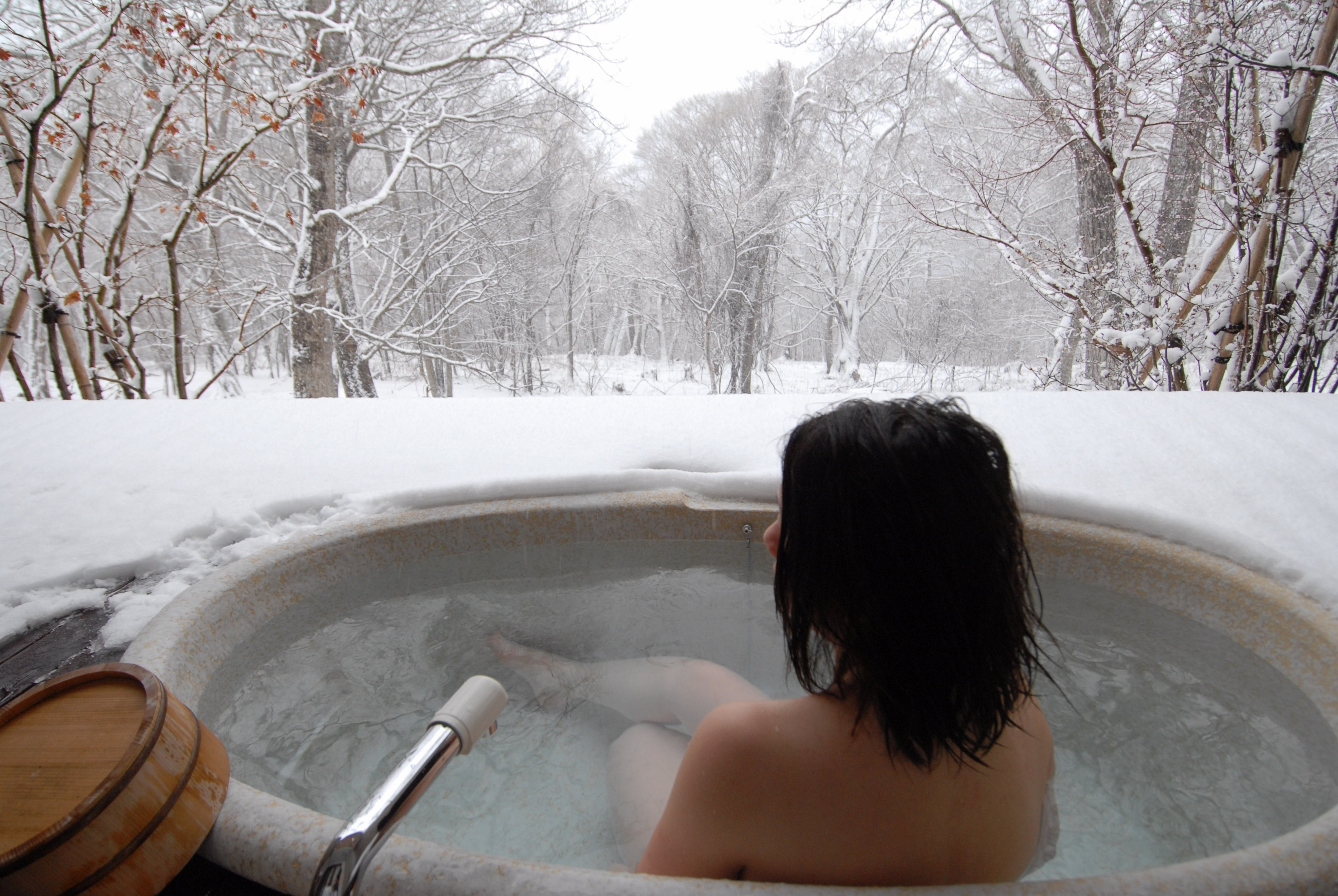 jacuzzi in winter